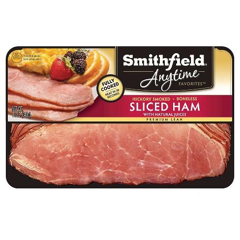 Smithfield Anytime Favorites Hickory Smoked Sliced Ham Target