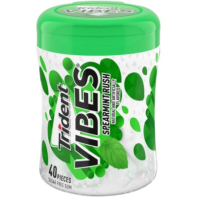 Trident Vibes Spearmint Rush Chewing Gum - 40ct