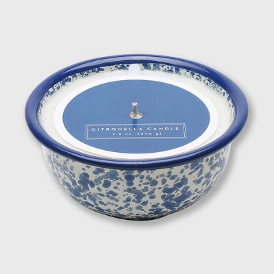 10oz Speckled Citronella Outdoor Candle Navy - Threshold™