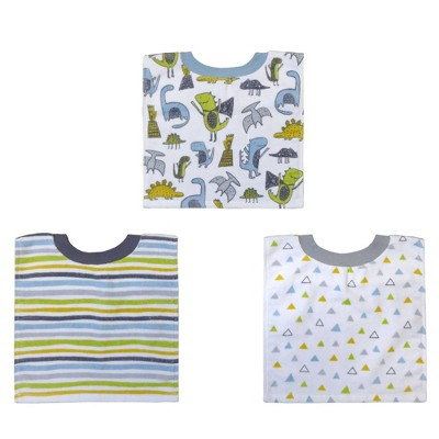 Neat Solutions Printed Pullover Toddler Bib Set Boy - Dinos - 3pk