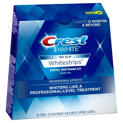 Whitening Strips & Gel: Crest 3D White Professional Effects