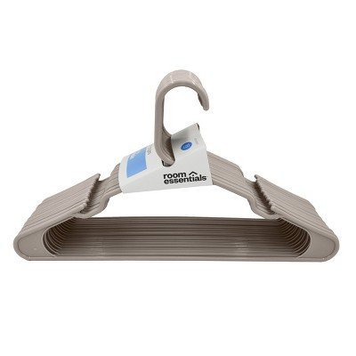 18pk Plastic Hangers Gray - Room Essentials™