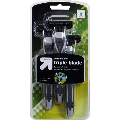 Men's Triple Blade Disposable Razor - 3ct - up & up™