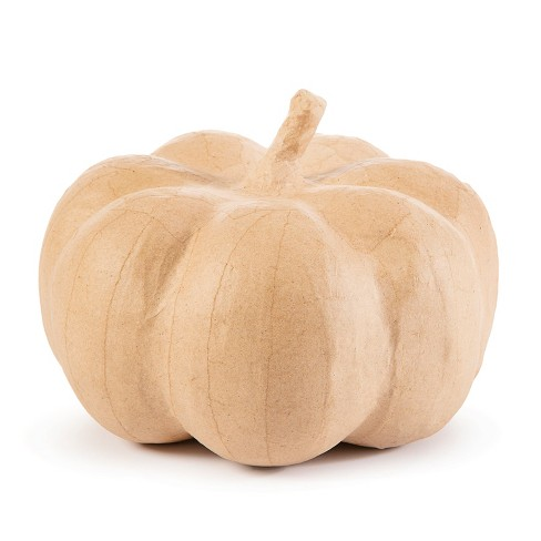 Large Halloween Paper Mache Pumpkin Cream - Hyde and Eek! Boutique™ - image 1 of 1