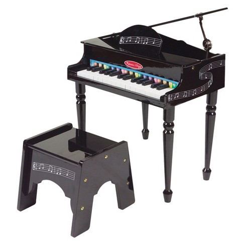 Melissa & Doug® Learn-To-Play Classic Grand Piano With 30 Keys, Color-Coded Songbook, and Non-Tip Bench - image 1 of 4