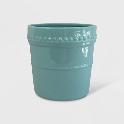 8  Reactive Glaze Nailhead Planter Blue - Smith & Hawken™
