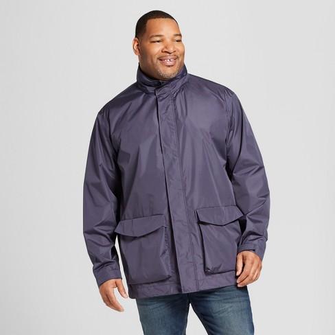 Men's Tall Rain Jacket  - Goodfellow & Co™ Geneva Blue - image 1 of 3