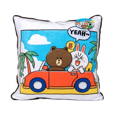 Line Friends Day of Brown Pillow