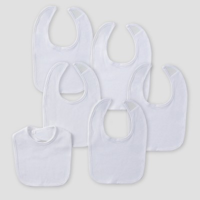 Gerber Baby 6pk Bibs - White One Size