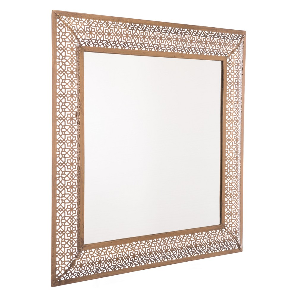 ZM Home 31 African Square Mirror Gold