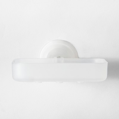 Power Lock Lever Suction Soap Dish White - Room Essentials™