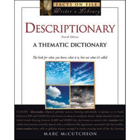 Descriptionary - (Facts on File Writer's Library) 4 Edition by  Marc McCutcheon (Paperback) - image 1 of 1