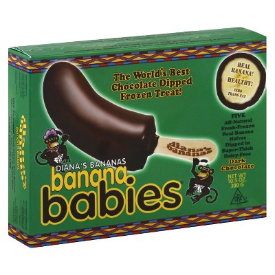 Diana's Bananas Dark Chocolate Covered Frozen Banana - 5pk