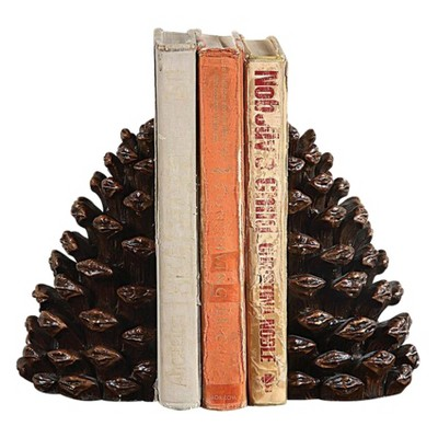 Resin Pinecone Bookends - 3R Studios
