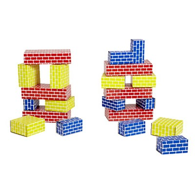 Childcraft Corrugated Building Blocks, Various Sizes, Primary Colors, set of 84