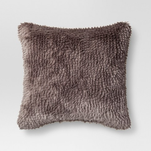 Textured Faux Fur Square Throw Pillow - Project 62™ - image 1 of 1