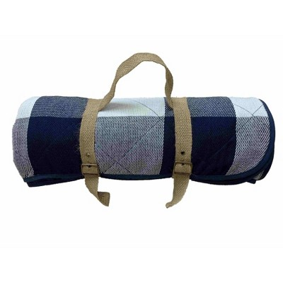 Checked Picnic Blanket Blue/White - Threshold™