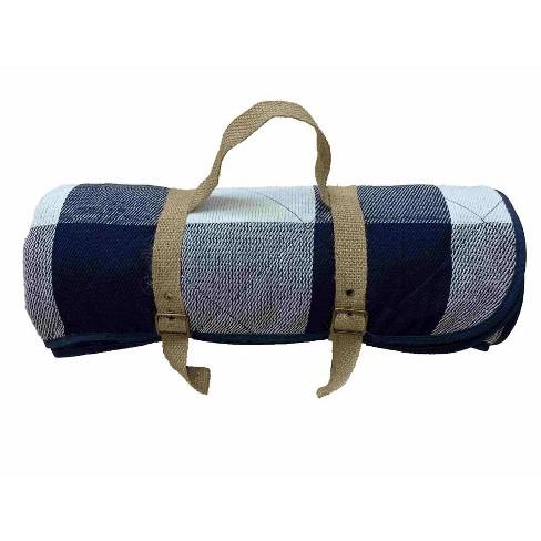 Check Picnic Blanket Blue/White - Threshold™ - image 1 of 1