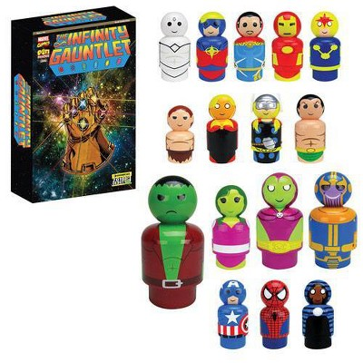 Marvel Avengers: Infinity War Infinity Guantlet Wooden Pin Mates Collectibles Set of 16 (Convention Exclusive)