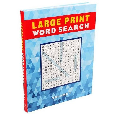 Large Print Word Search Volume 1, Volume 1 - (Large Print Puzzle Books)  (Paperback) : Target
