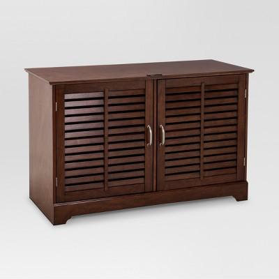Shuttered Door TV Stand Brown - Threshold™