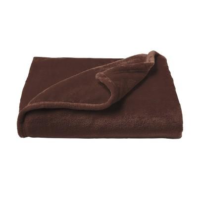 Oversized Microfiber Velvet Solid Polyester Throw Blanket - Yorkshire Home