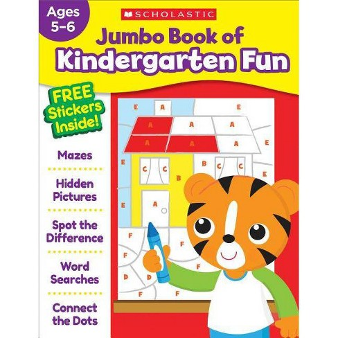 Jumbo Book of Kindergarten Fun Workbook - by  Scholastic Teaching Resources (Paperback) - image 1 of 1