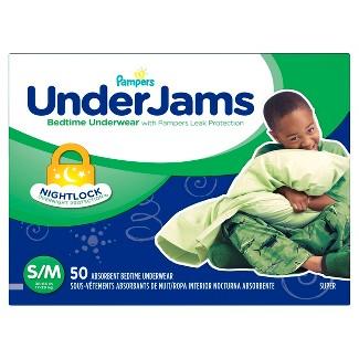 Pampers UnderJams Boys Bedtime Underwear Super Pack Size S/M (50 ct)