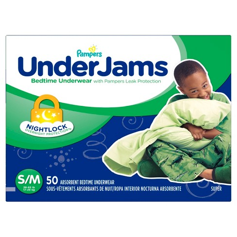 Pampers UnderJams Boys Bedtime Underwear Super Pack (Select Size) - image 1 of 4