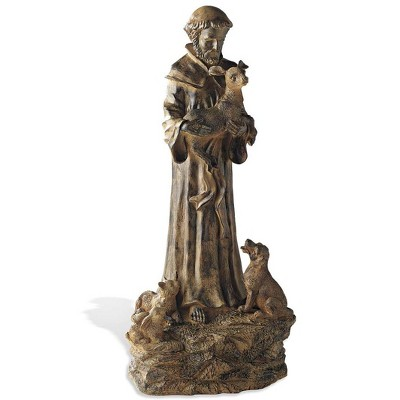 Wind & Weather Hand-Finished Woodlike St. Francis Garden Statue