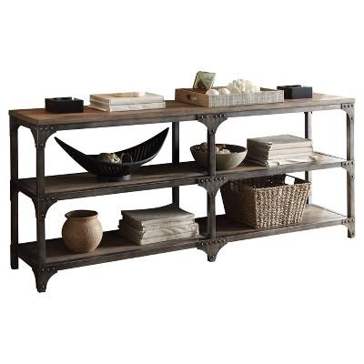 Console Table Weathered Oak - Acme Furniture