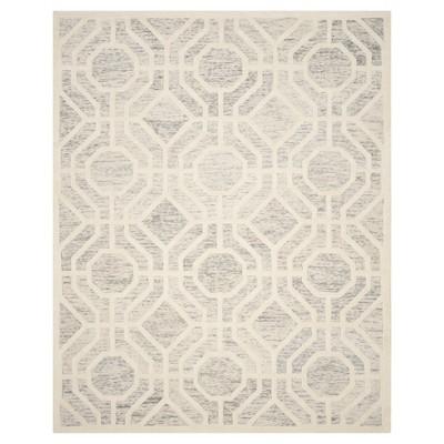 Light Gray/Ivory Geometric Tufted Area Rug - (8'X10')- Safavieh®