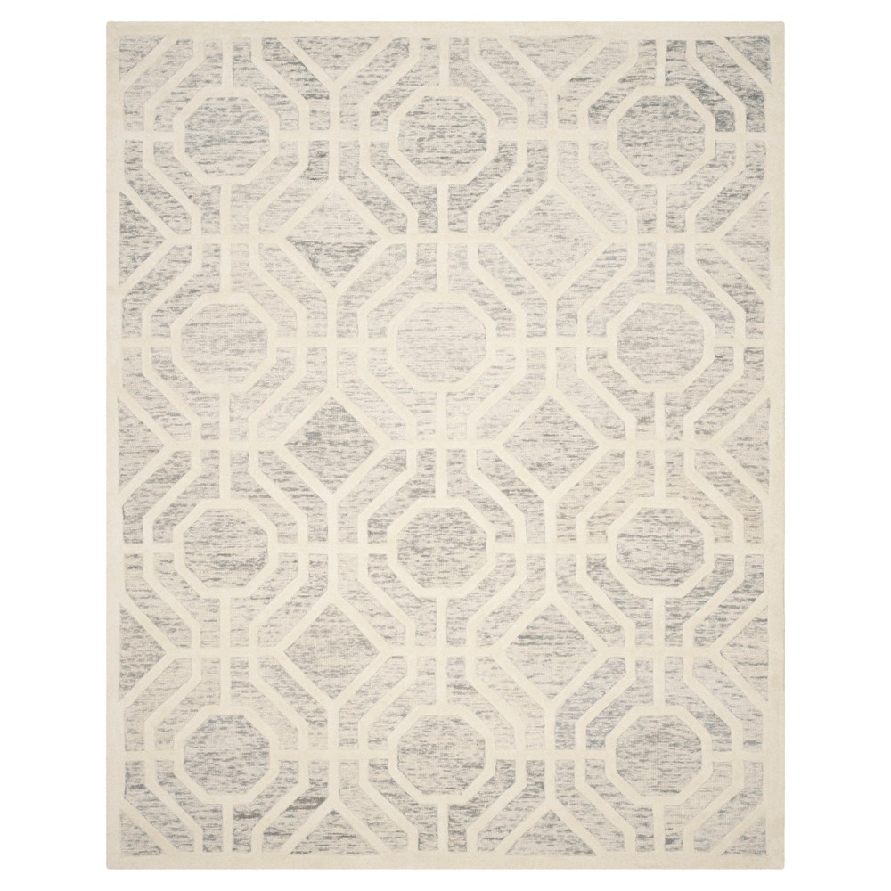 Light Gray/Ivory Geometric Tufted Area Rug - (8'X10') - Safavieh