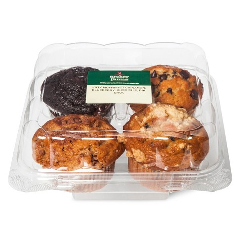 Variety Pack Muffins - 4ct/16oz - Archer Farms™ - image 1 of 1