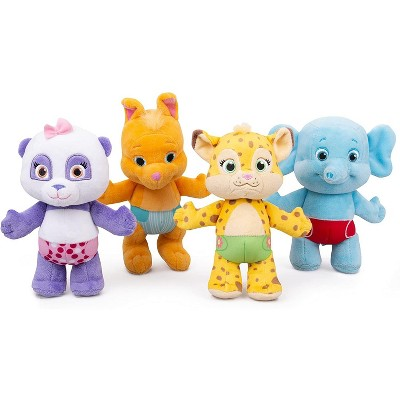 """Word Party Snap Toys Plush Stuffed Animal Toys - 4 Pack, 10"""""""