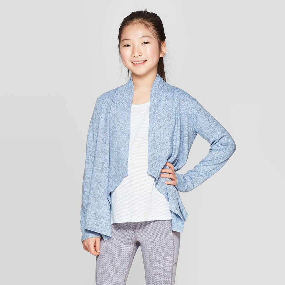 Image of Girls' Studio Cardigan - C9 Champion Blue XS, Girl's