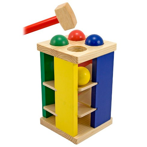 Melissa & Doug® Deluxe Pound and Roll Wooden Tower Toy With Hammer - image 1 of 5