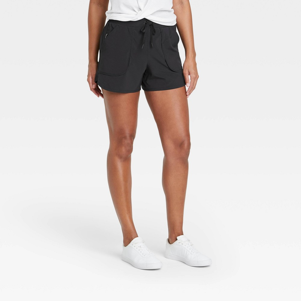 Women 39 S Stretch Woven Shorts 4 34 All In Motion 8482 Black Xs