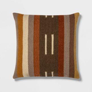 Square Woven Stripe Pillow - Threshold™