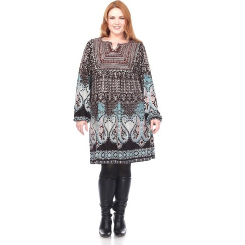 Women's Plus Size Phebe Embroidered Sweater Dress - White Mark - image 1 of 3