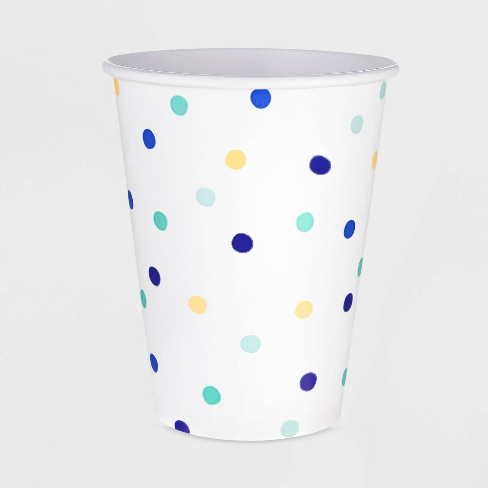 Image of 10ct 12oz Patterned Paper Cup - Spritz