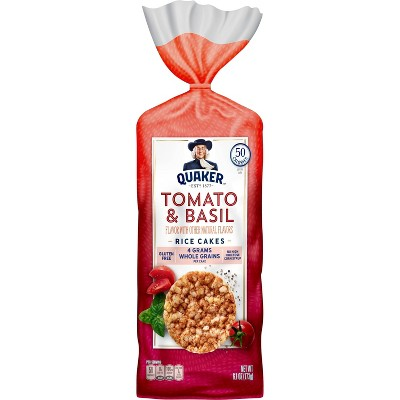 Quaker Garden Tomato & Basil Rice Cakes - 6.1oz
