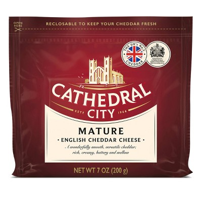 Cathedral City Mature White Cheddar Cheese Chunk - 7oz