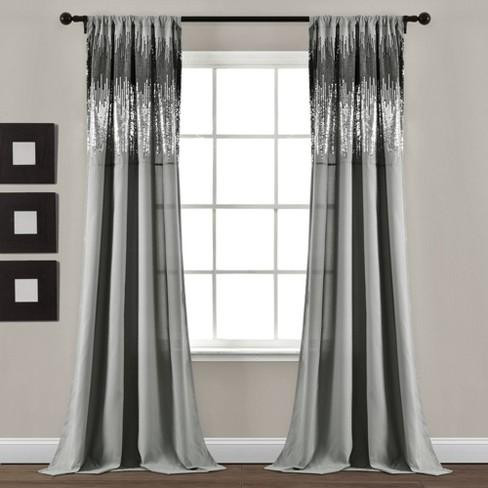 Shimmer Sequins Light Filtering Window, Shimmer Sheer Curtain Panels