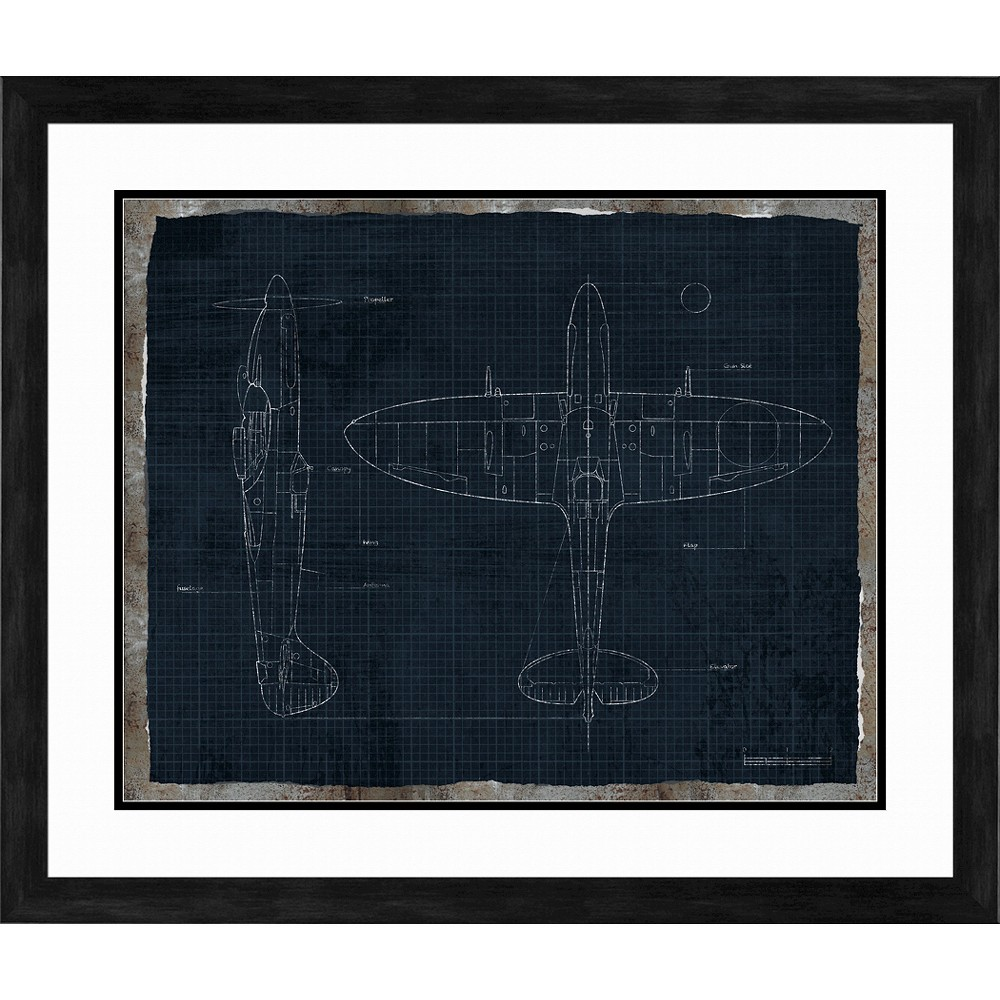 Fighter Plane Wall Art, Framed Wall Poster Prints