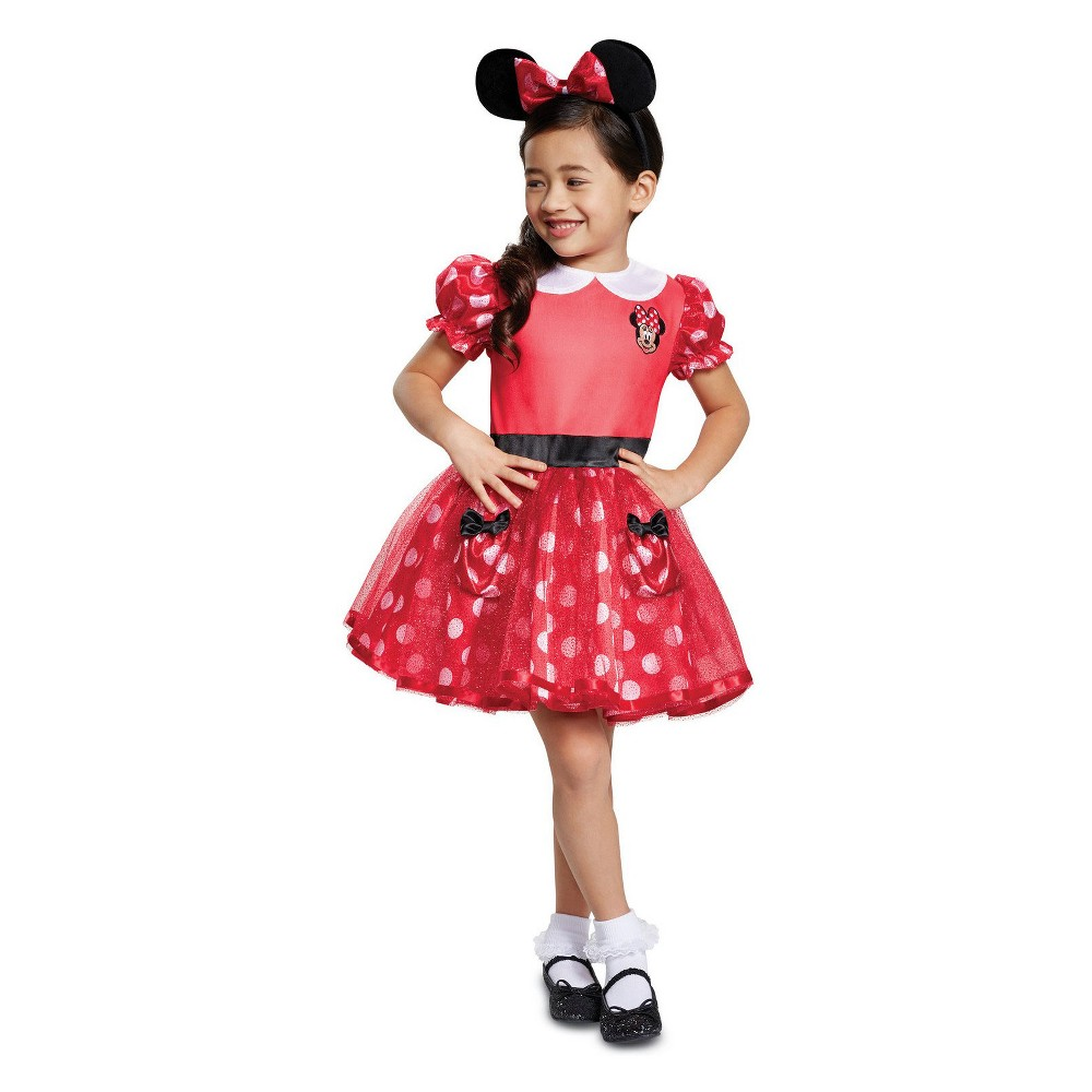 Toddler Girls' Minnie Mouse Halloween Costume Red 2T