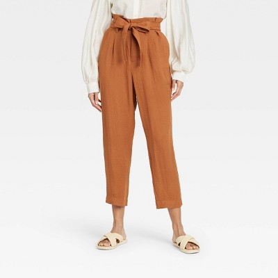 Women's High-Rise Paperbag Ankle Pants - A New Day™