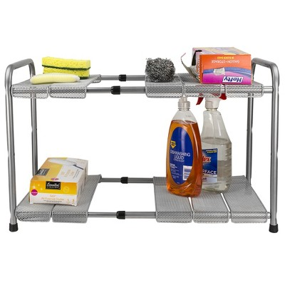 Home Basics 2-Tier Adjustable Cabinet Organizer