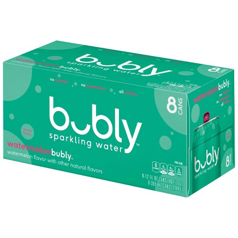 bubly Watermelon Sparkling Water - 8pk/12 fl oz Cans - image 1 of 3