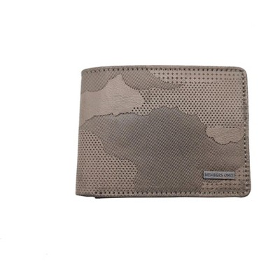 Members Only Men's Vegan Leather Camouflage RFID Protection Bifold Wallet